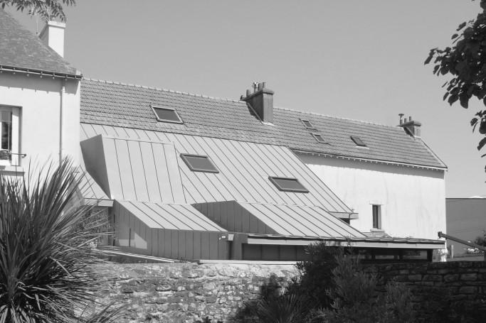 Extension d'une maison dans le quartier de Merville à Lorient