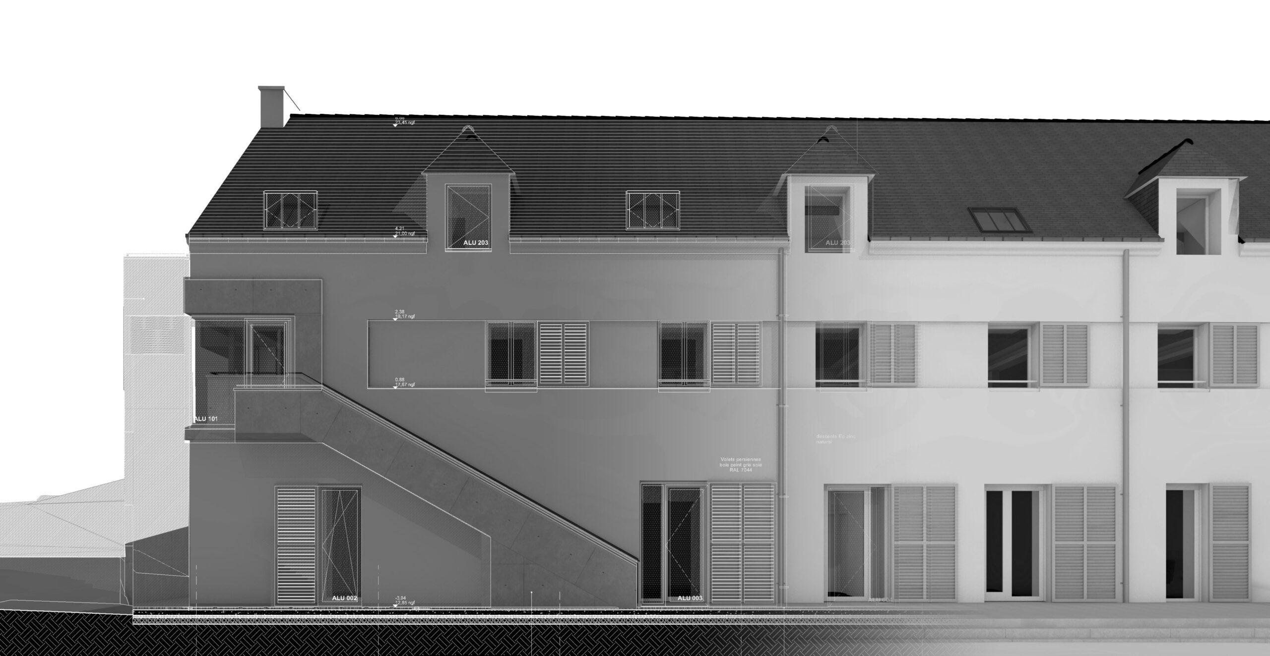 Pers détail façade Ouest